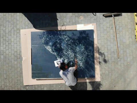 Geneva's streets get shattered glass artwork | AFP