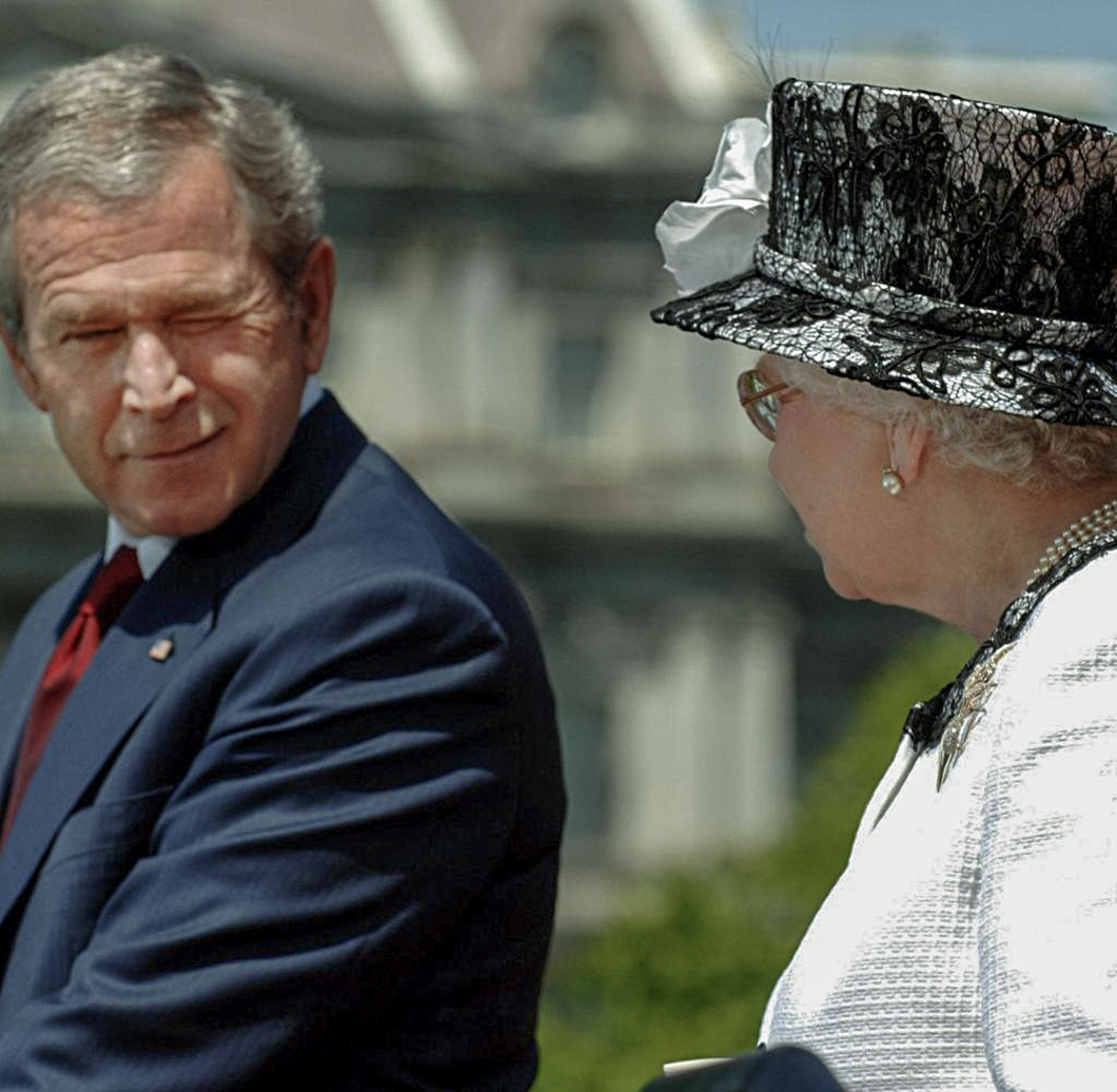 GW Bush with ER. W stands for winking.