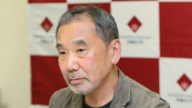 Haruki Murakami, appearing at Waseda University in Tokyo on Nov. 4, 2018. The author was there to announce that he will donate his archives to the school, his alma mater.