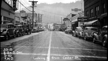 BW Caltrans District 2 Siskiyou County Dunsmuir, Cedar Street 1940