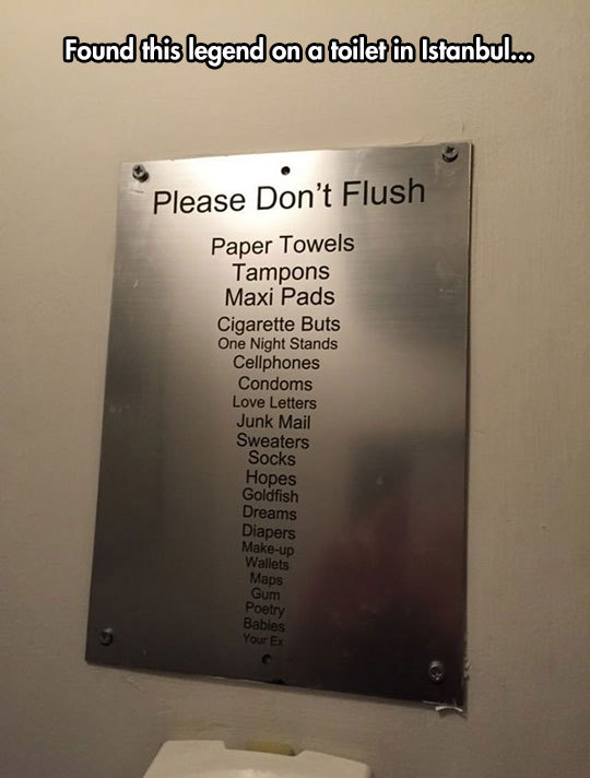 Please don't flush…