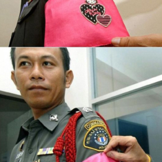 "Thai police officers who break rules will be forced to wear hot pink armbands featuring ""Hello Kitty"""