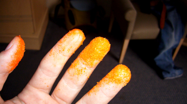 One arrested in snack attack; assault by Cheetos