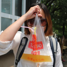 China. Beer in a bag. Tsingtao.
