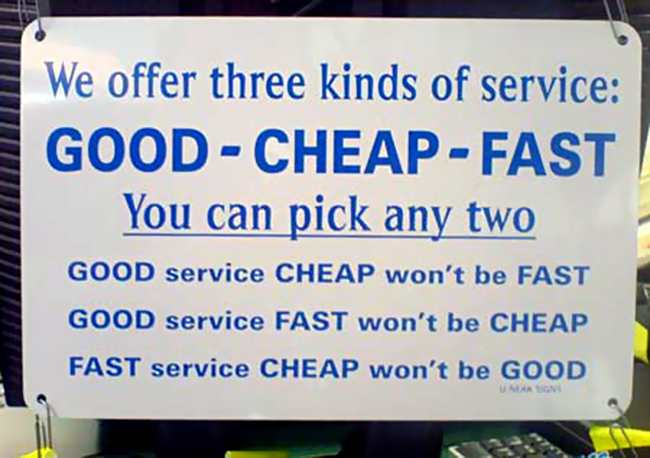 Three kinds of service…