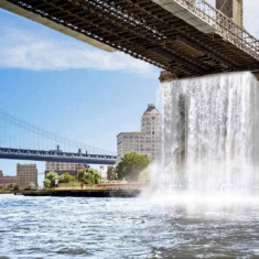 Artist to build four giant waterfalls in New York