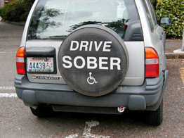 Argument between couple over who is too drunk to drive ends... well, as you might expect it to