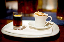 Dessert of the day : Hot chocolate, beer and Snickers-laced whipped cream