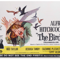 """Hitchcock's """"The Birds"""" Posters and Graphics"""