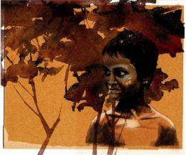 Jamie Hewlett watercolor prints for Oxfam benefit 09