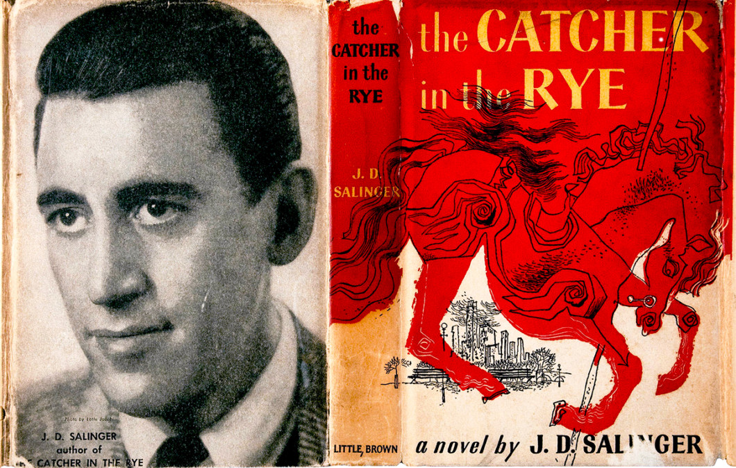 JD Salinger RIP Photoof Catcher in the Rye book cover