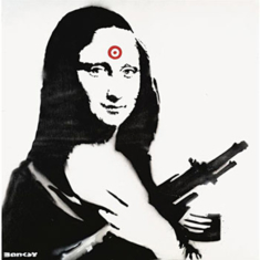 Mona Lisa in Contemporary Urban Street Art