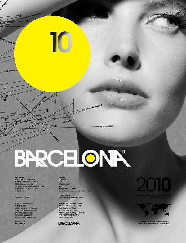 Name your type — Barcelona 2010 Posters by Anthony Dart
