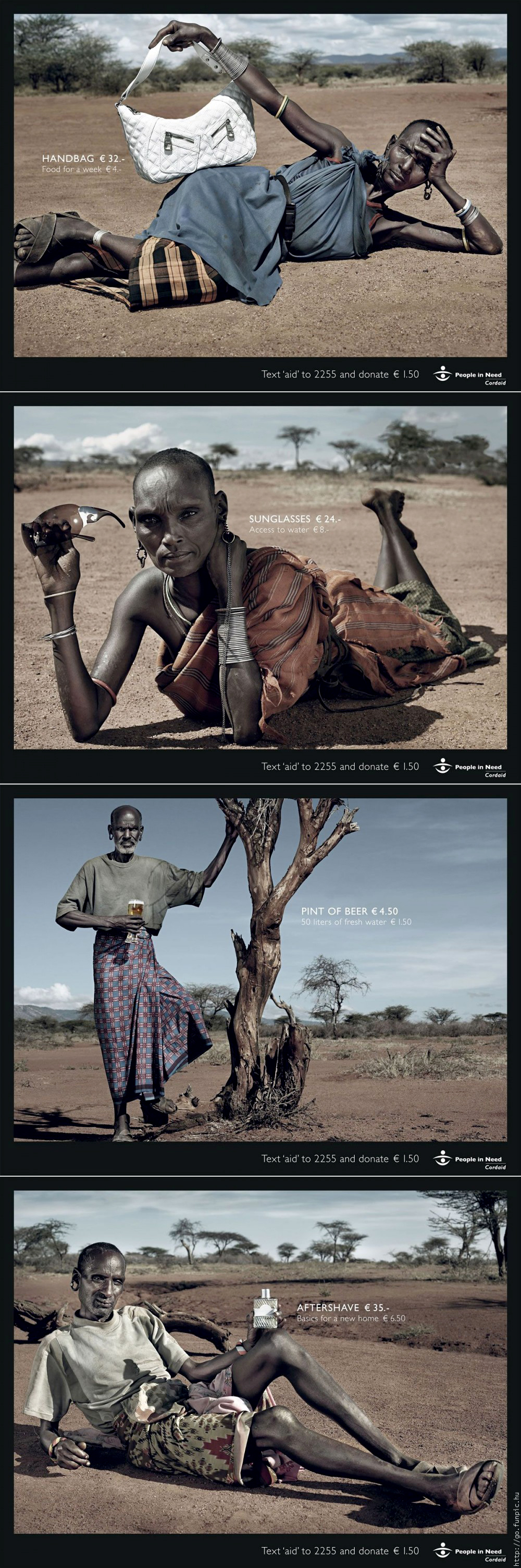 Series of ads for Cordaid by Saatchi