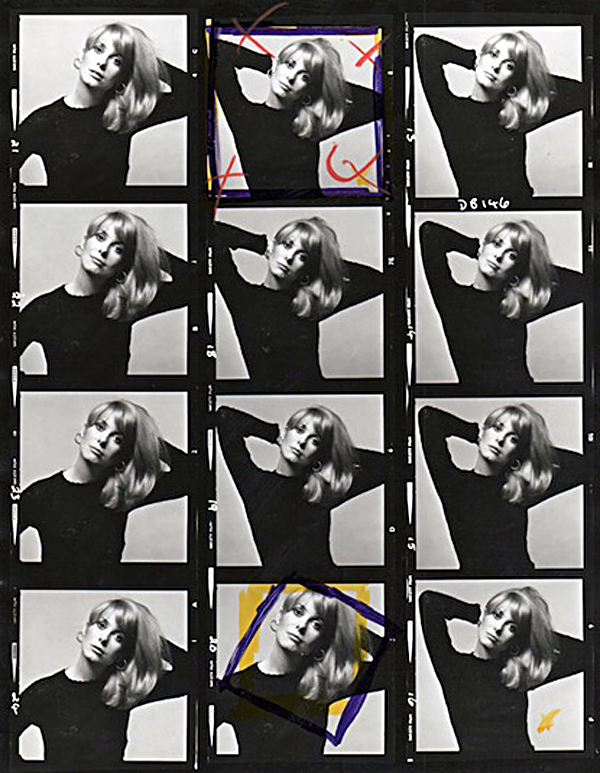 60's Black and White Contact Sheets by David Bailey
