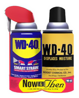 1950s-style WD-40 Collector's Can in the Now & Then Twin Pack