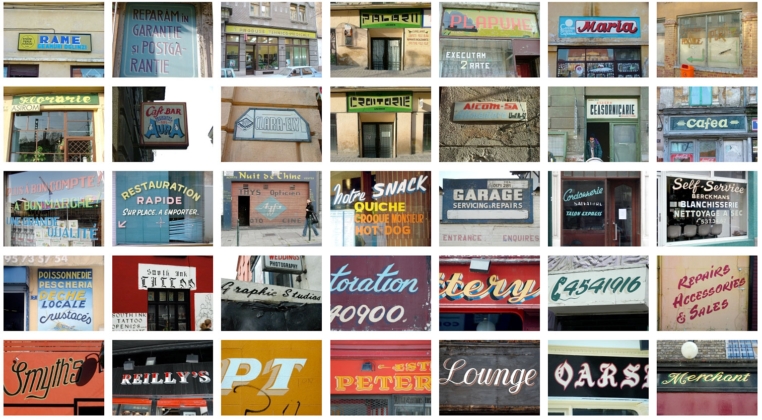 TypeArchive — Wonderful image library primarily focused on hand painted signage 01