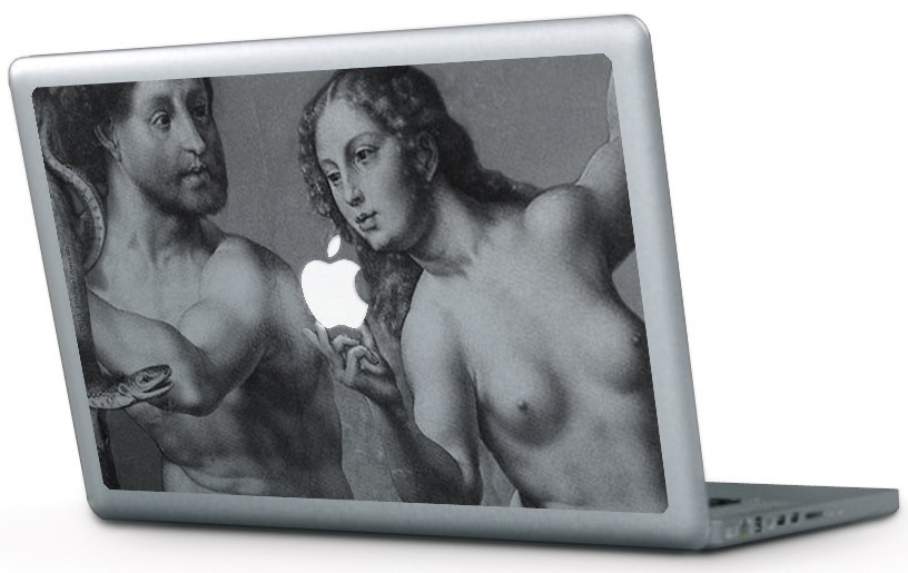 Adam and Eve Macbook skin