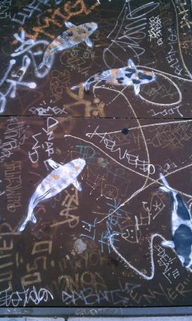 Found Graffiti #25 — Phone Company Koi
