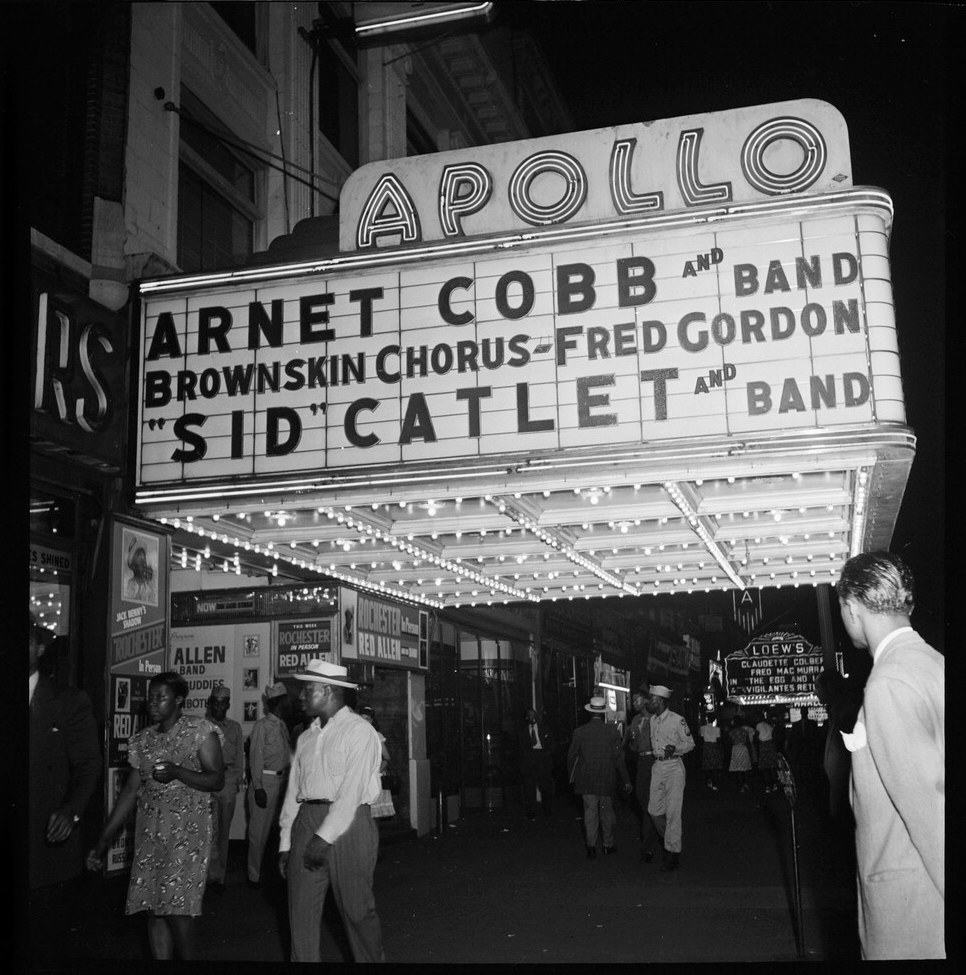 View of the Apollo Theatre marquee, New York, N.Y., between 1946 and 1948