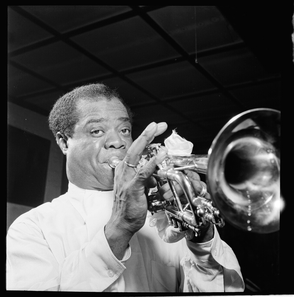 Portrait of Louis Armstrong, Carnegie Hall, New York, N.Y., ca. Apr. 1947