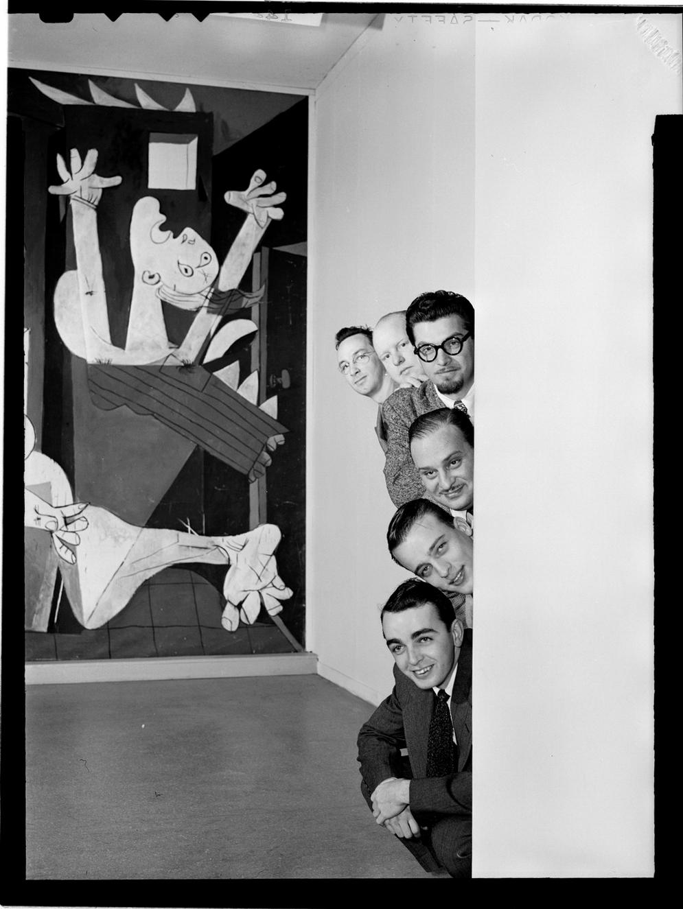 Portrait of Ralph Burns, Edwin A. Finckel, George Handy, Neal Hefti, Johnny Richards, and Eddie Sauter, Museum of Modern Art, New York, N.Y., ca. Mar. 1947