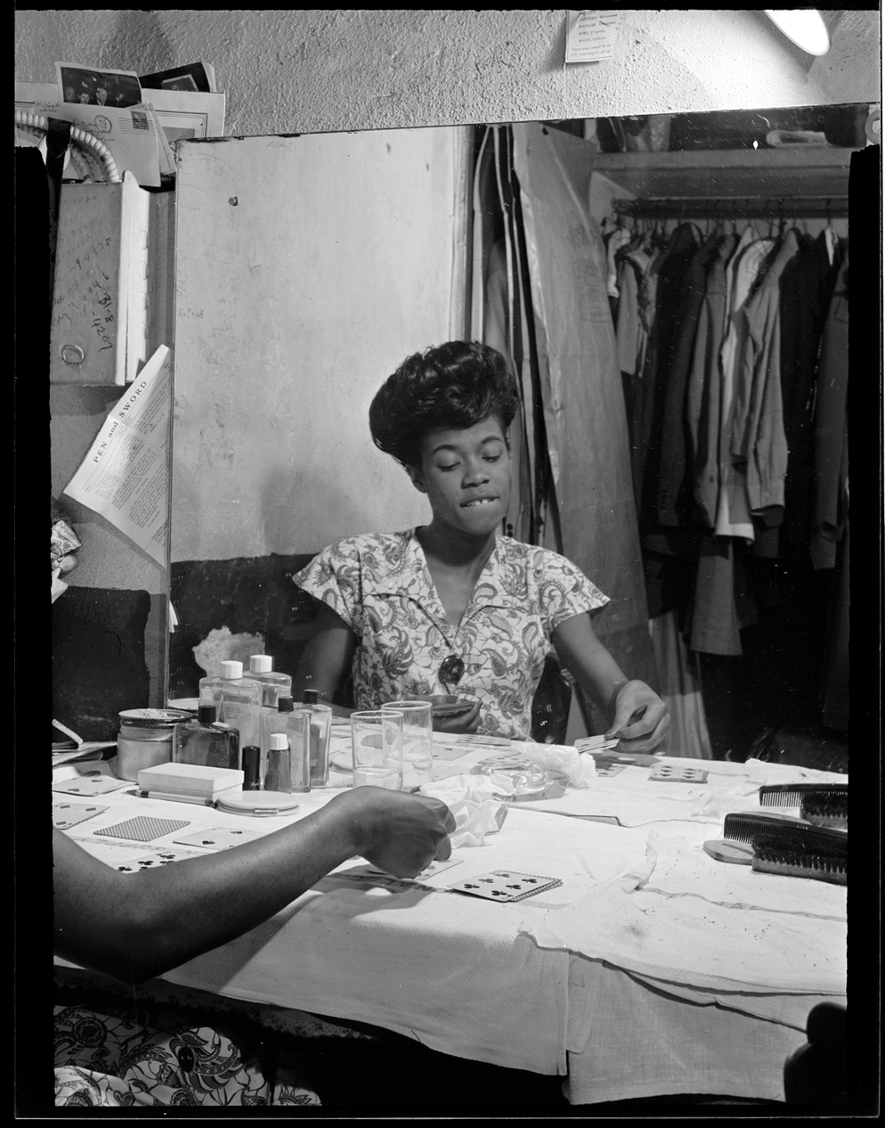 Portrait of Sarah Vaughan, Café Society (Downtown), New York, N.Y., ca. Sept. 1946