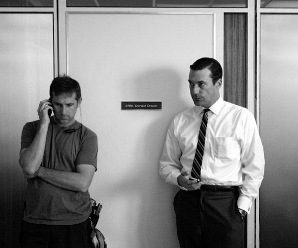 On the set of 'Mad Men'