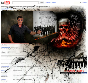 Expendable's Youtube page 'take over', nice execution—unfortunate product…
