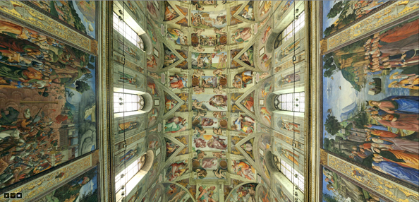 Sistine Chapel zoomable, 360° tour. Pretty amazing.