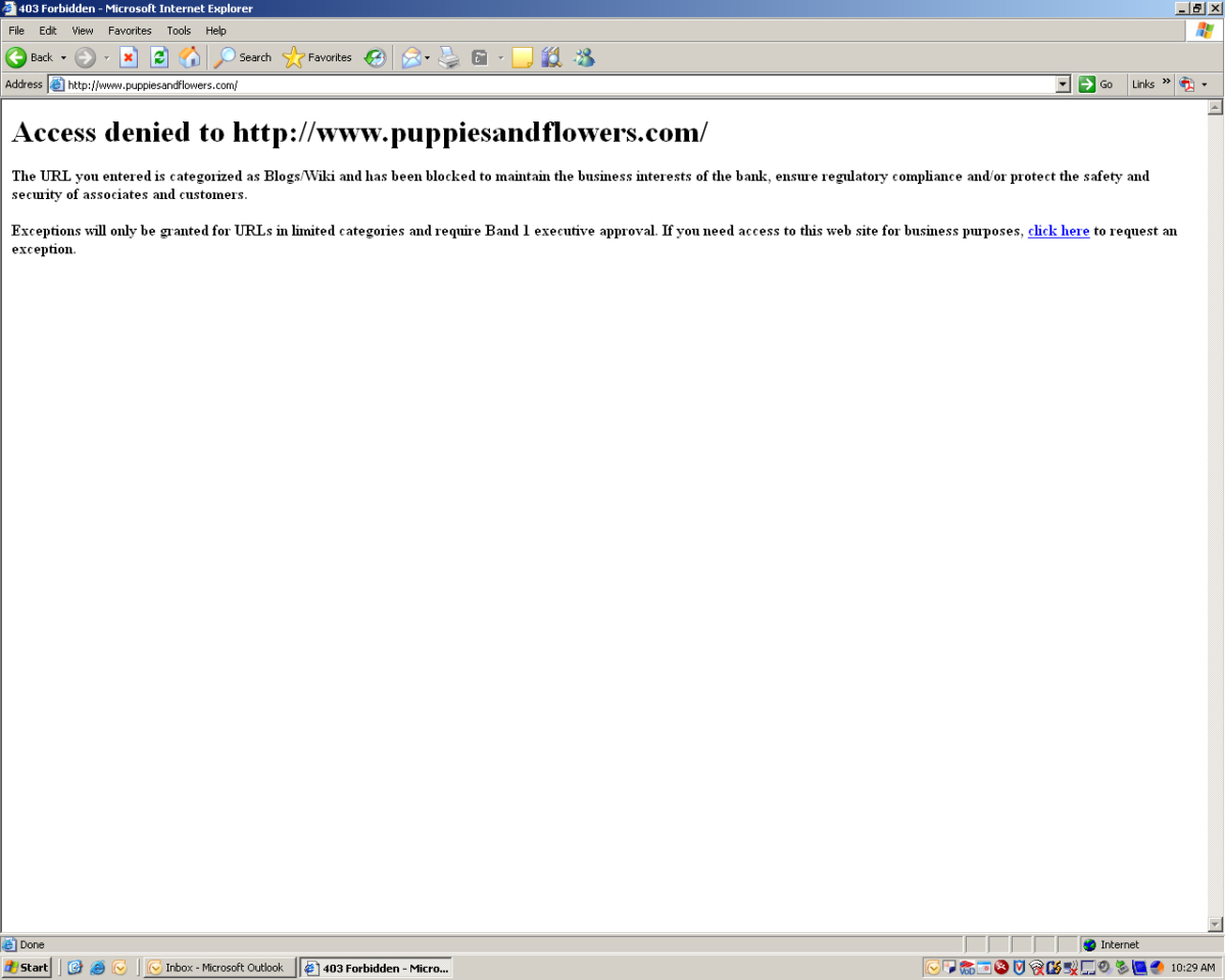 """Bank of America blocks Puppies and Flowers in the """"interests of the bank"""". Bell ends. (Wiki it)."""