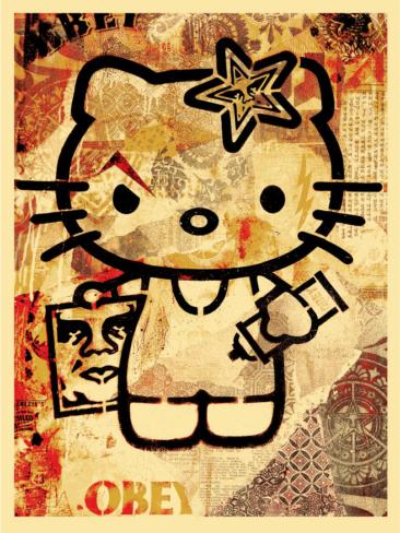 Shepard Fairey — Obey Giant Hello Kitty