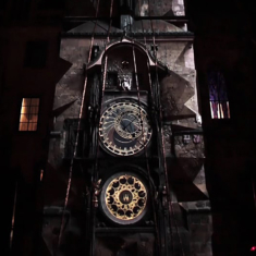 Video Mapping Tower Clock in Prague