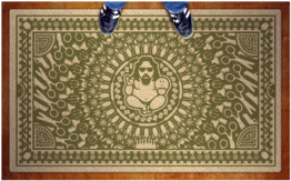 The Duddha Rug — really ties the room together