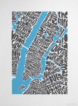 Ursula Hitz NYC Type Posters