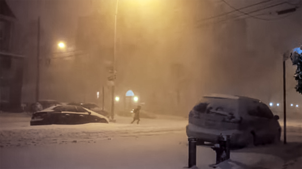 A Still from Man in a Blizzard
