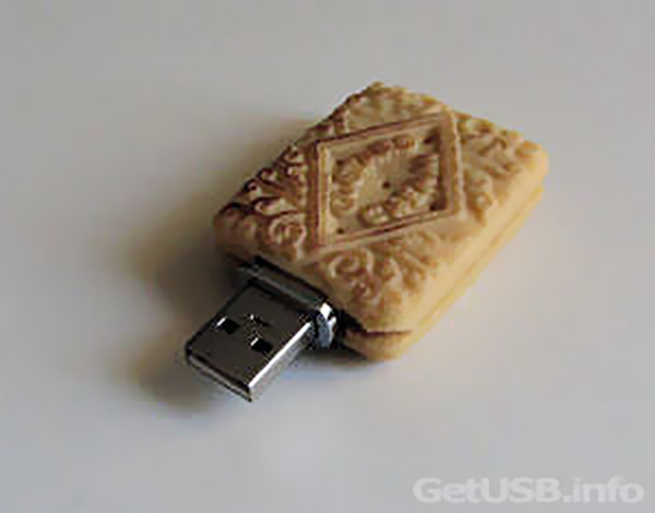 USB-iscuit An Edible Flash Drive