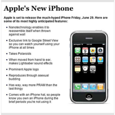 The Onion chimes in on the iPhone hype.