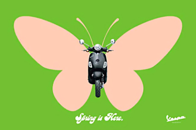Vespa Butterfly — Print work from Dentsu, Toronto.