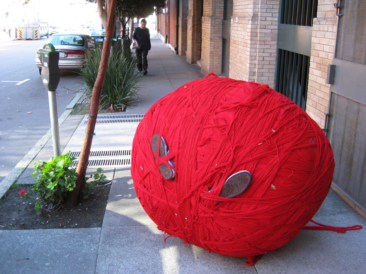 Big Red Ball of Yarn outside my office this morning…