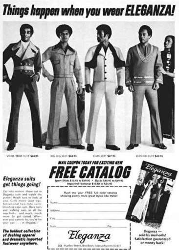 Fashion ads from Ebony Magazine 1970's