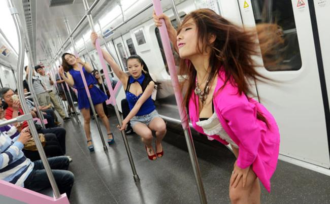 Subway pole dancers enrage MTA
