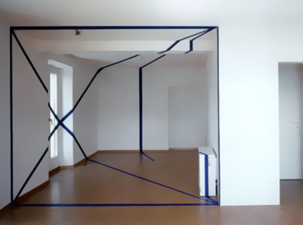 3D Painted Rooms — These rooms are painted so that, when looked at from the right vantage point, optical illusions are created