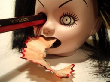 Gruesome pencil sharpener