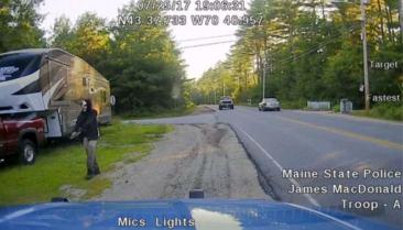 One-armed 'clown' brandishing a machete arrested in Maine