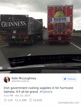 Ophelia Ireland Twitter Reactions
