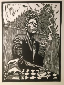 Tom Waits illustrated by Penyo Ivanov