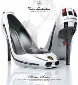 Lamborghini Stilettos – Not sure whether shoes inspired by cars are the best accessories to wear