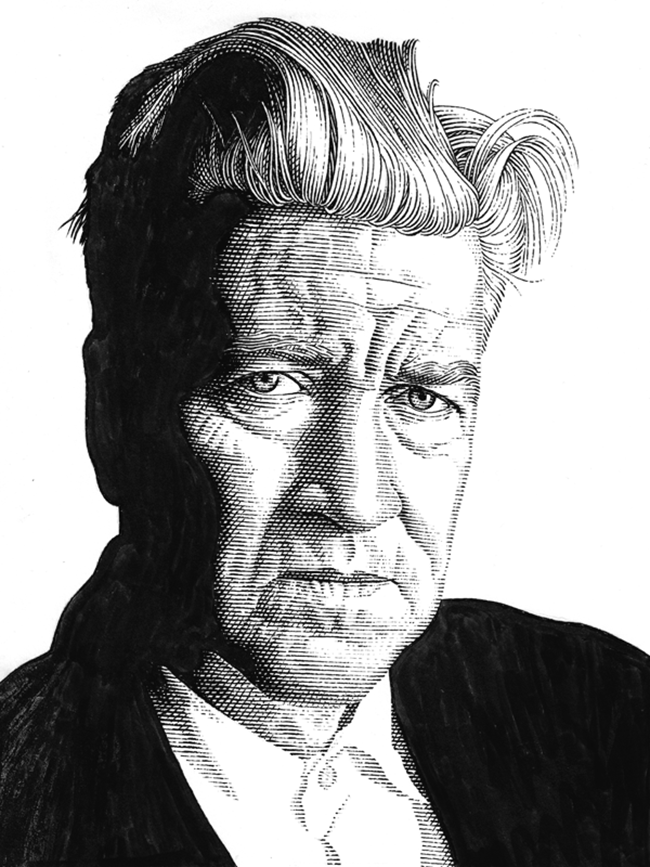 Leib Chigrin – Scratchboard Art – David Lynch