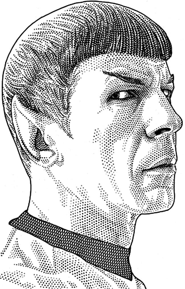 Leib Chigrin – Scratchboard Art – Dr Spock